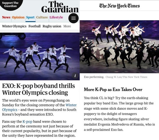 Articles from The Guardian and The New York Times. Photo from News1