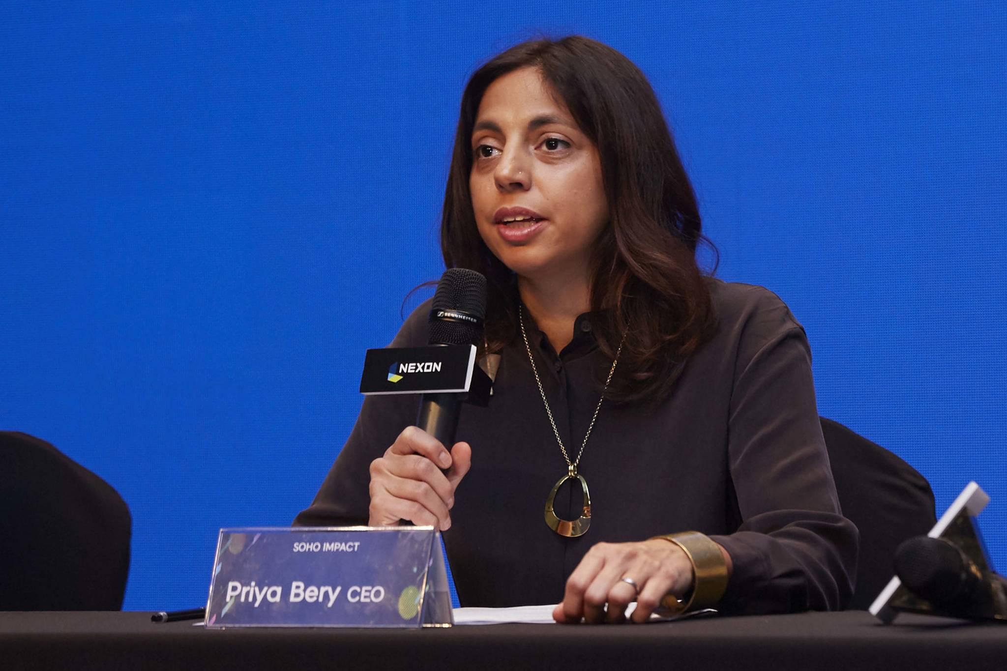 글로벌 브릭기부 활동을 하는 NXC 산하 법인 '소호임팩트'의 프리야 베리 대표[사진 넥슨코리아]