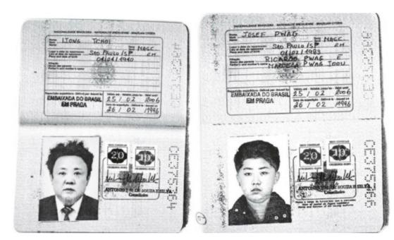 북한 김정일 전 국방위원장과 김정은 노동당 위원장으로 추정되는 인물이 과거 불법으로 확보한 브라질 여권을 발급하려했다는 주장이 나왔다. [사진 로이터=연합뉴스]