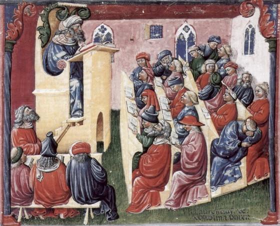 세계 최초의 대학인 이탈리아의 볼로냐대. 상인들의 자치 모임이 학문적으로 진화하면서 대학으로 발전했다. [중앙포토]