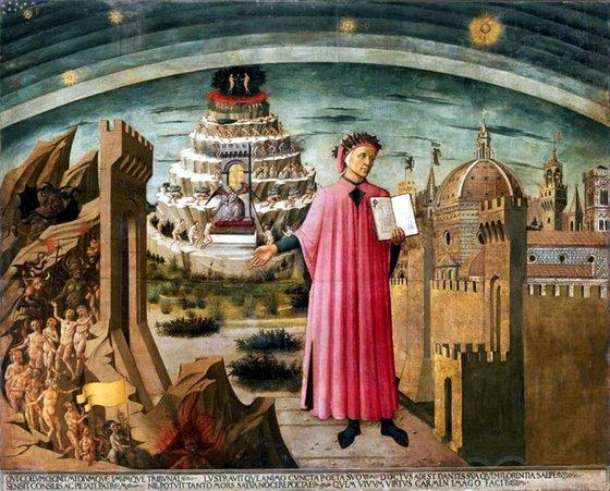 이탈리아 화가 도메니코 디 미켈리노의 '단테, 신곡, 그리고 피렌체 시'. [사월의책]