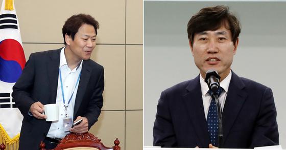 임종석 대통령 비서실장(왼쪽)과 하태경 바른미래당 의원 [연합뉴스ㆍ뉴스1]