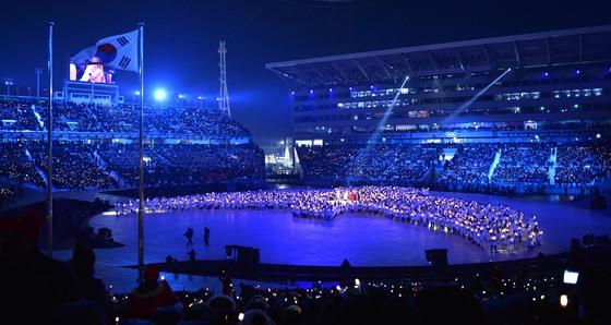 2018 평창 동계패럴림픽 개회식이 열리는 강원도 평창 올림픽플라자. [중앙포토]