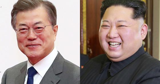 문재인 대통령과 김정은 북한 노동당 위원장 [연합뉴스]