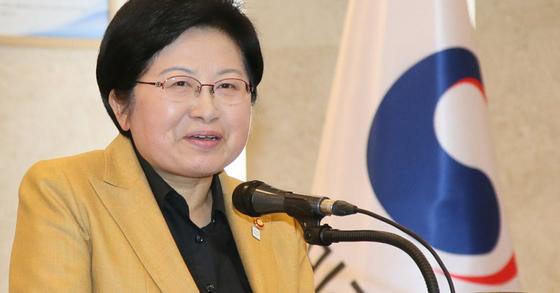 정현백 여성가족부 장관. [뉴스1]