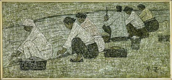 국민화가 박수근의 '빨래터(1950년대)'. 캔버스에 유채.
