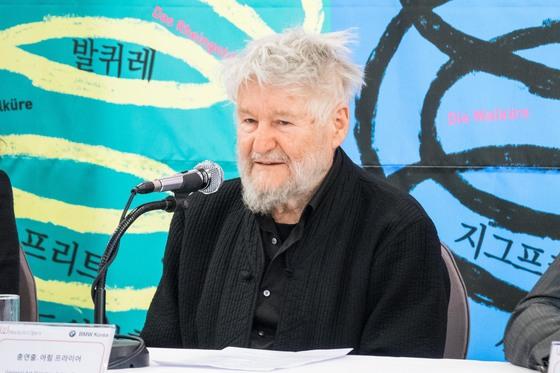 한국에서 바그너 '반지' 시리즈 전체를 공연하기로 한 연출가 아힘 프라이어가 7일 기자간담회를 열었다. [사진 월드아트오페라]