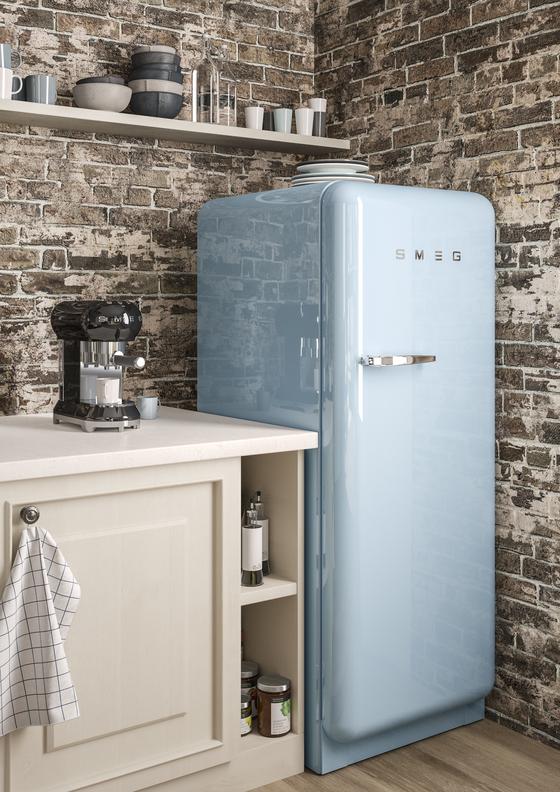 요즘 드라마에 자주 나오는 스메그 '50's 레트로 스타일 라인' 냉장고. 50년대 출시된 이탈리아 가전제품 스타일을 본땄다. [사진 스메그코리아]