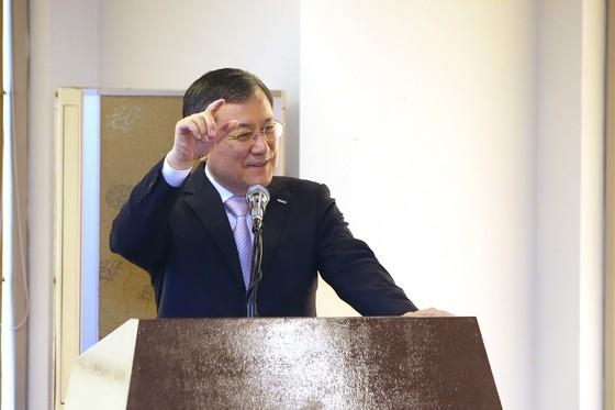 신성철 KAIST 총장이 지난 12일 프레스센터에서 'KAIST 비전 2031'을 발표하고 있다. [사진 KAIST]