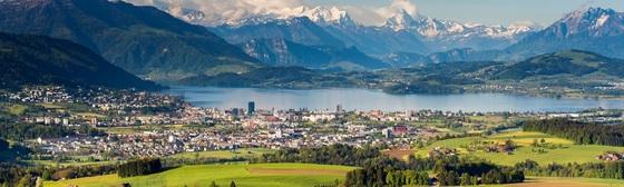 스위스의 경제 중심지 취리히에서 남쪽으로 30분쯤 떨어진 추크(Zug)는 얼핏 관광지로 보이지만 스위스 최대의 기업도시 중 하나다. (사진=주크 칸톤 제공)