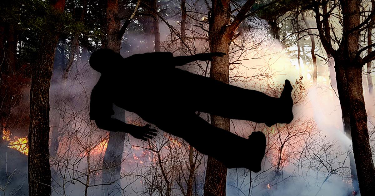 13일 오후 야산 화재 현장에서 신원을 알 수 없는 시신 1구가 발견됐다. (※이 사진은 기사 내용과 직접적인 관련 없음) [중앙포토]