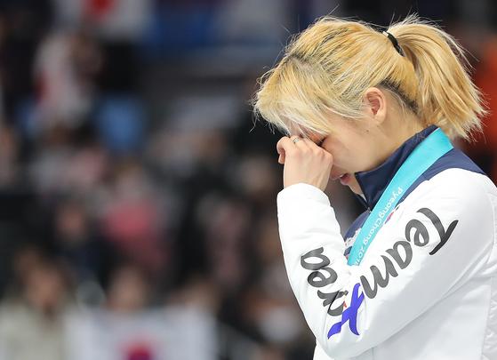 김보름 은메달, 멈추지 않는 눈물 [연합뉴스]