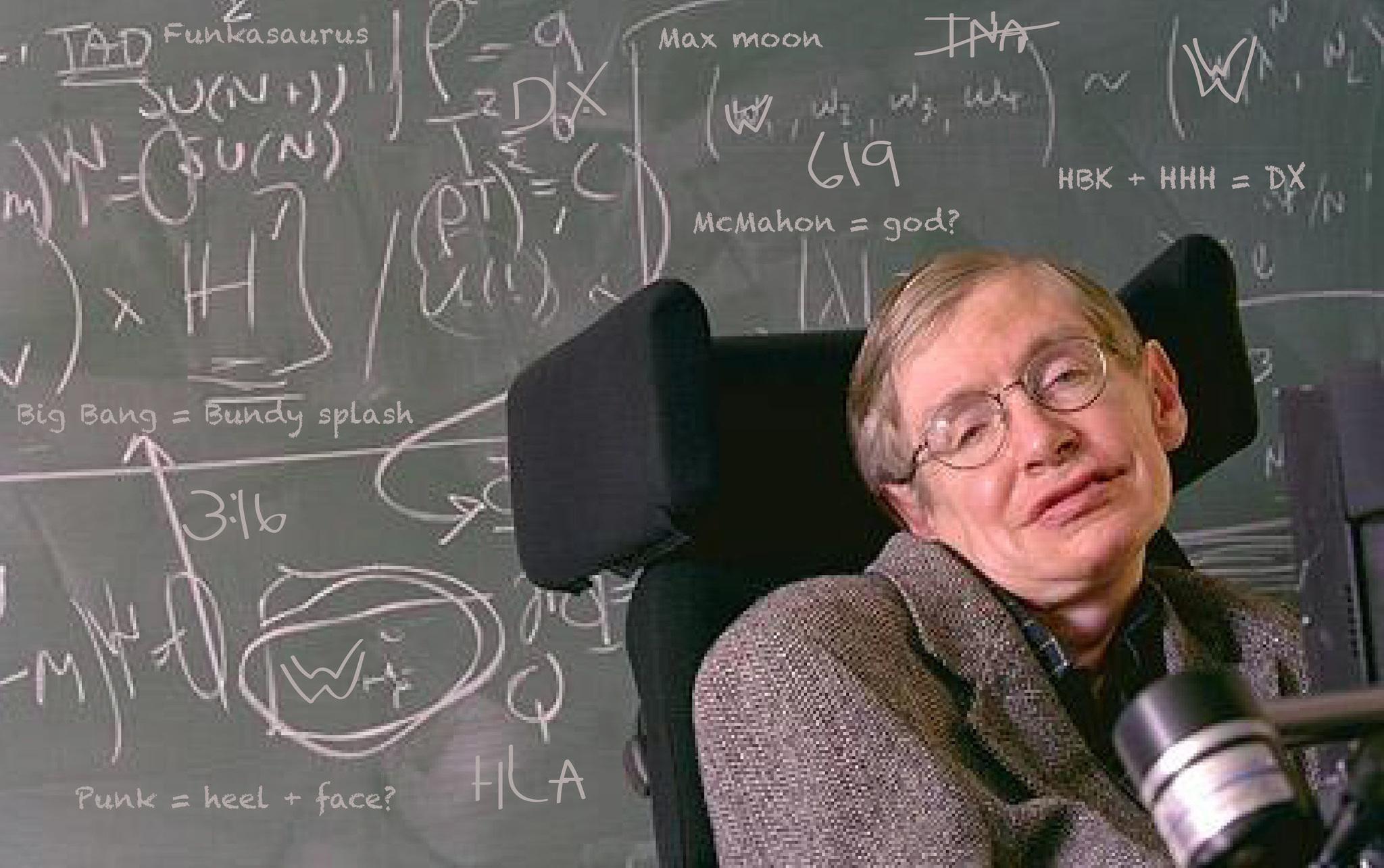 물리학자 스티븐 호킹 박사.