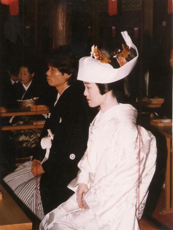 일본의 전통 결혼식 의상. [중앙포토]