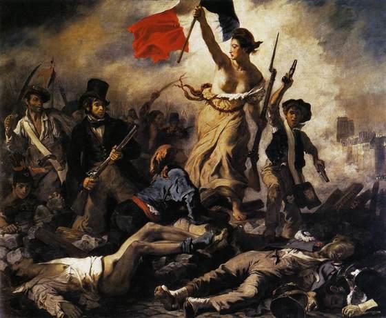 들라크루아가 그린 '민중을 이끄는 자유의 여신'(1830). 시민들의 봉기로 샤를르 10세를 권좌에서 끌어내린 프랑스 7월 혁명을 그렸다. 흩어져 있는 개인의 힘은 미약하지만, 조직화 된 시민의 힘은 강력하다는 것을 역사의 많은 사례가 이야기 해주고 있다. [중앙포토]