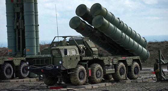 러시아제 방공미사일 시스템 S-400.
