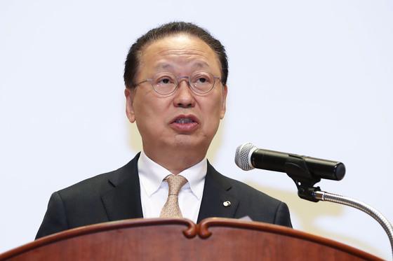 새출발 결의대회, 발언하는 최흥식 금감원장