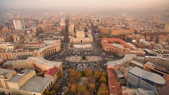 아르메니아 수도 예레반 전경.