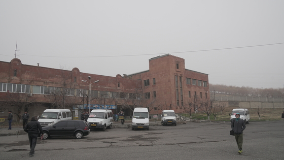 예레반 북부 버스 터미널.
