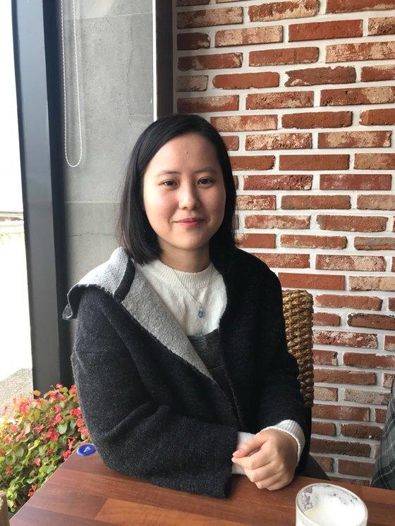 경북 문경에서 만난 이지은 작가. 이 작가의 필명은 '에른'이다. [김윤호 기자]