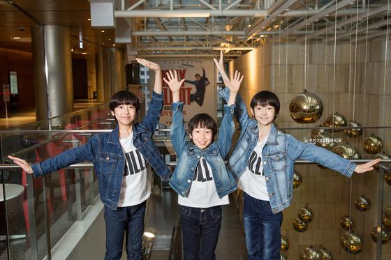 지난해 11월부터 뮤지컬 '빌리 엘리어트'의 빌리로 살아가고 있는 세 소년. 왼쪽부터 천우진·성지환·에릭 테일러.