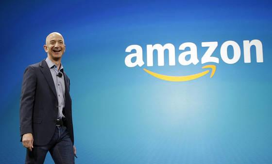 아마존은 20일 뉴욕 증시에서 시가총액 2위에 올랐다. 사진은 제프 베조스 아마존 최고경영자(CEO). [AP=연합뉴스]