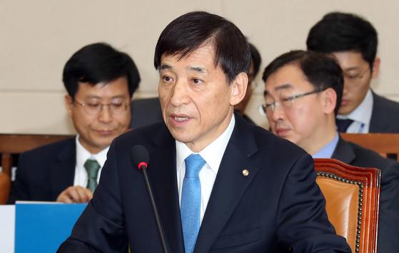 이주열 한국은행 총재 후보자가 21일 국회 기획재정위원회에서 인사청문회에 참석했다. 변선구 기자