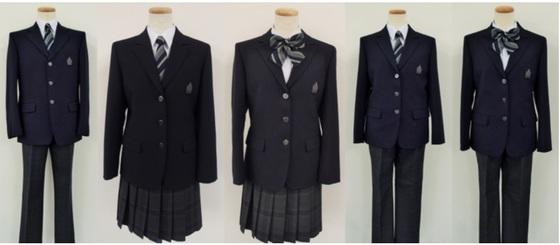 일본 치바현 가시와노하 중학교가 도입한 다섯 가지 디자인의 교복. 학생들은 성별에 관계없이 자신이 원하는 옷을 고를 수 있다. [사진 톰보, 야후 재팬 캡처]
