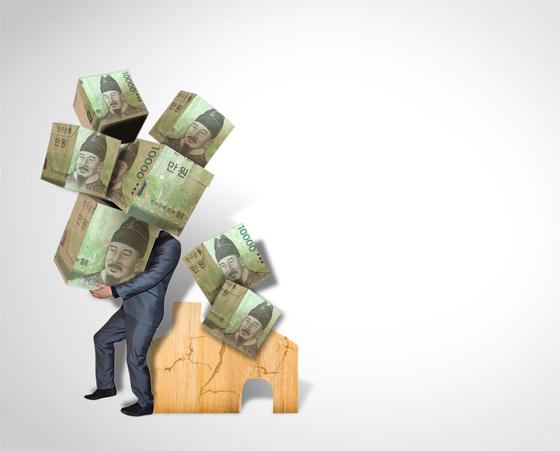 빚을 일부 탕감해줘도 또 빚을 지는 '부채 요요현상'. [중앙포토]