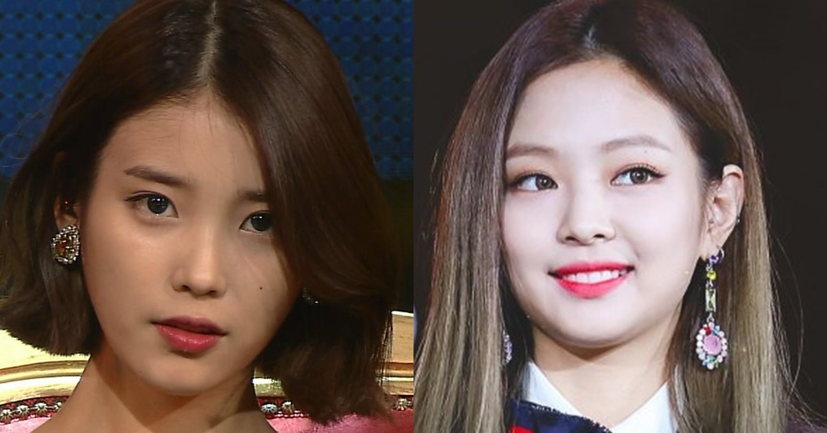 IU (left) and Jennie (right)