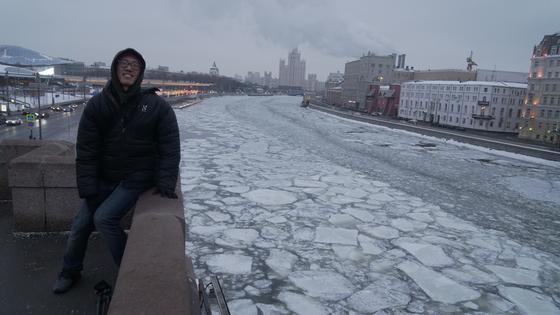 얼어붙은 모스크바.