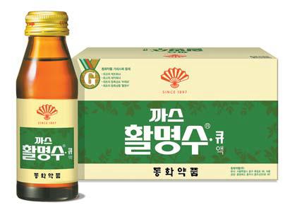 최초의 양약인 활명수는 국내 액제 소화제 시장점유율 70%를 차지하고 있는 브랜드다.