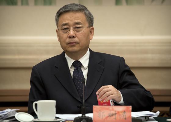 궈수칭 중국 은행보험감독위원회 주석