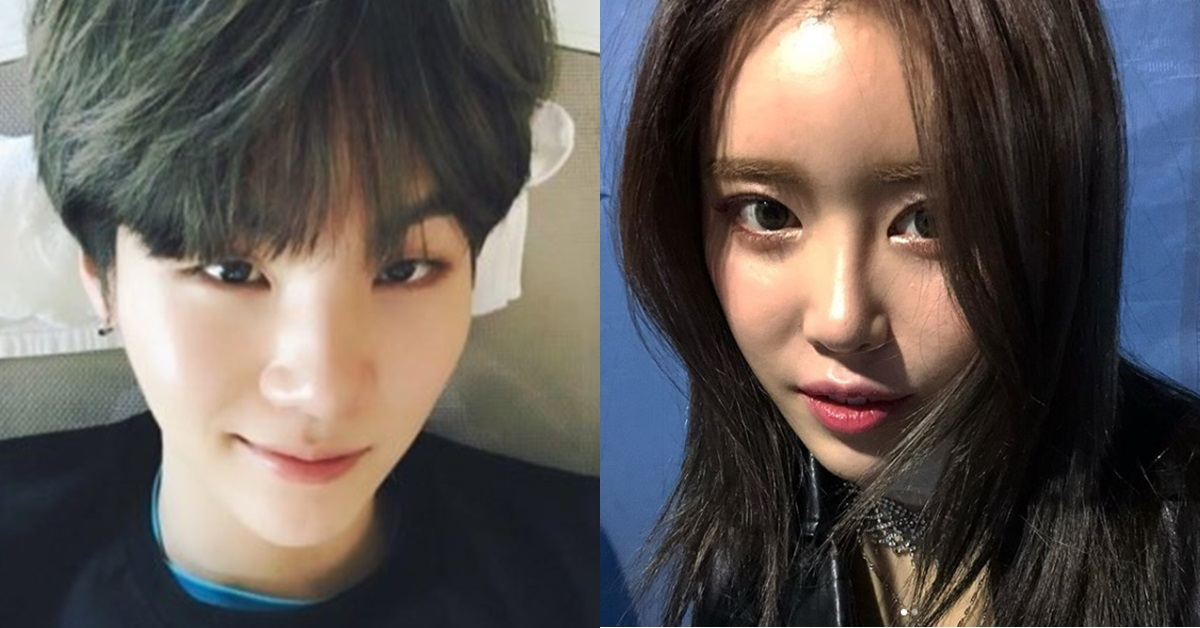 Suga of BTS (left) and Suran (right)