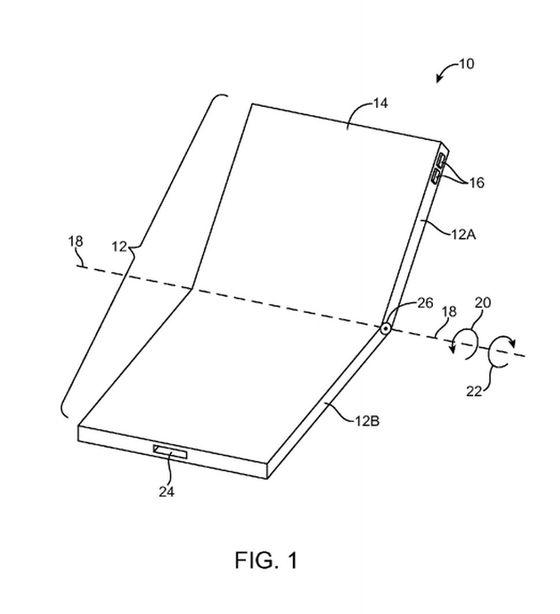 애플이 특허 출원한 폴더블폰 개념도 [자료 애플]