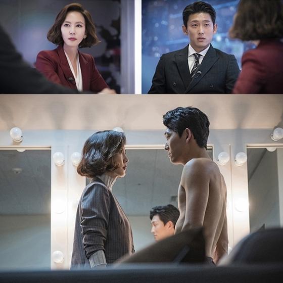 '미스티'에서 어른 멜로를 선보이고 있는 김남주와 고준. 연인관계였던 그들이 재회한 모습. [사진 JTBC]