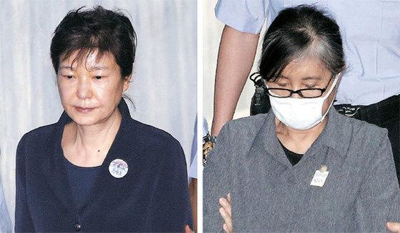 박근혜 전 대통령(왼쪽)과 최순실씨. 김현동 기자