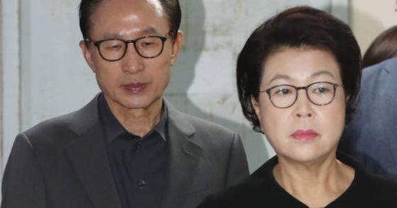 이명박 전 대통령과 부인 김윤옥 여사 [연합뉴스]