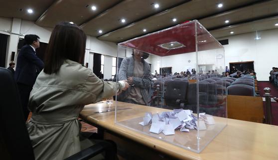 박근혜 전 대통령 1심선고 공판 방청권 추첨이 28일 오전 서울회생법원에서 열리고 있다. 최승식 기자