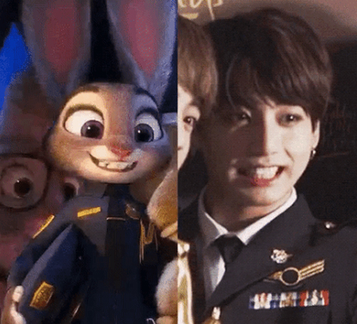 Photo from the movie 'Zootopia'(left) and online community