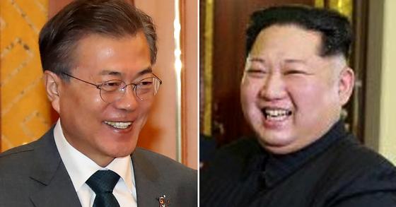 문재인 대통령(왼쪽)과 김정은 북한 노동당 위원장. [중앙포토ㆍ연합뉴스]