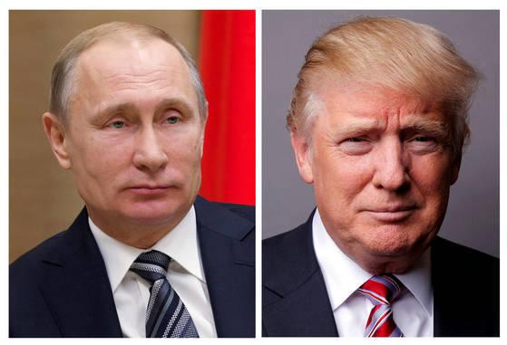 블라디미르 푸틴 러시아 대통령(왼쪽)과 도널드 트럼프 미국 대통령