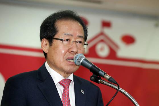 홍준표 자유한국당 대표. [사진 연합뉴스 제공]