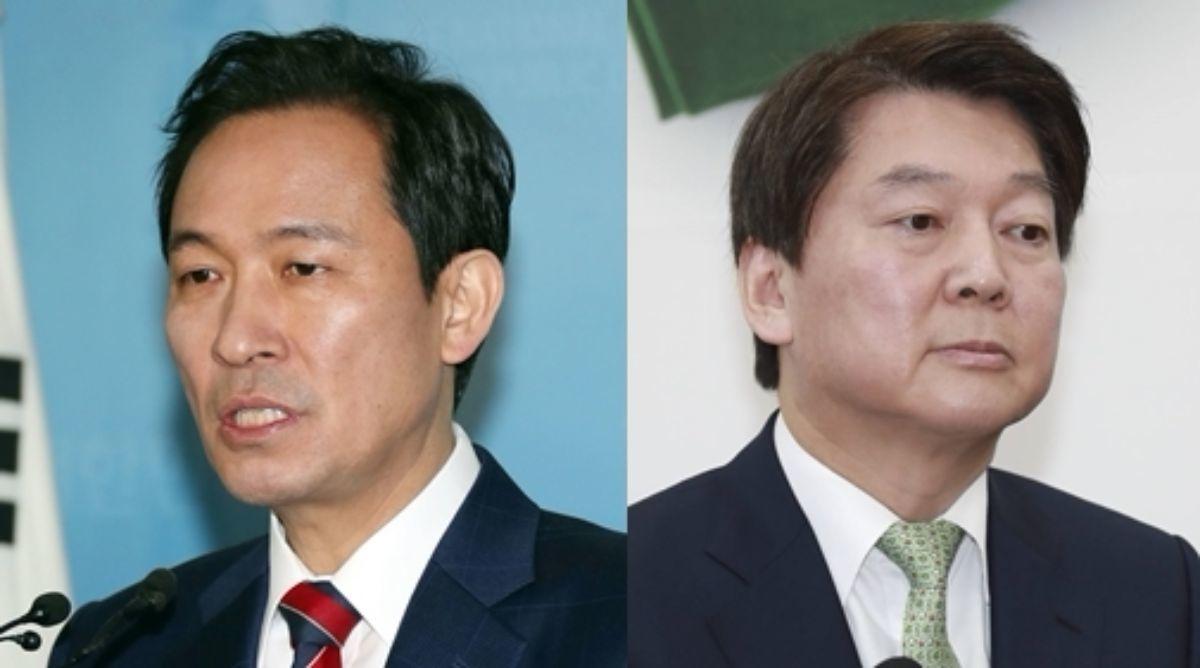 우상호 더불어민주당 의원, 안철수 바른미래당 인재영입위원장. [사진 중앙포토, 연합뉴스]