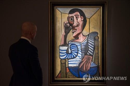 홍콩 크리스티에 전시된 피카소의 1943년작 '선원' [AFP=연합뉴스]