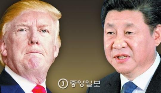 도널드 트럼프 미국 대통령(왼쪽)과 시진핑 중국 국가주석. [중앙포토]