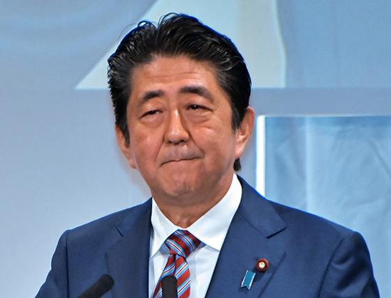 아베 신조 일본 총리. [UPI=연합뉴스]