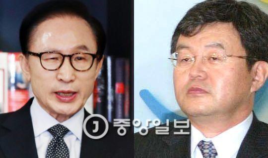 법무법인 '열림'을 새로 설립한 강훈(오른쪽) 변호사는 2007년 도곡동 땅 실소유주 의혹부터 줄곧 이명박 전 대통령을 변호해왔다. [중앙포토]