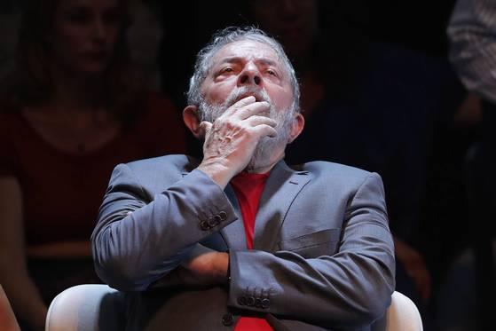 지난 2일 촬영된 루이스 이나시우 룰라 다 시우바 전 브라질 대통령의 모습.[히우데자네이루 EPA=연합뉴스]