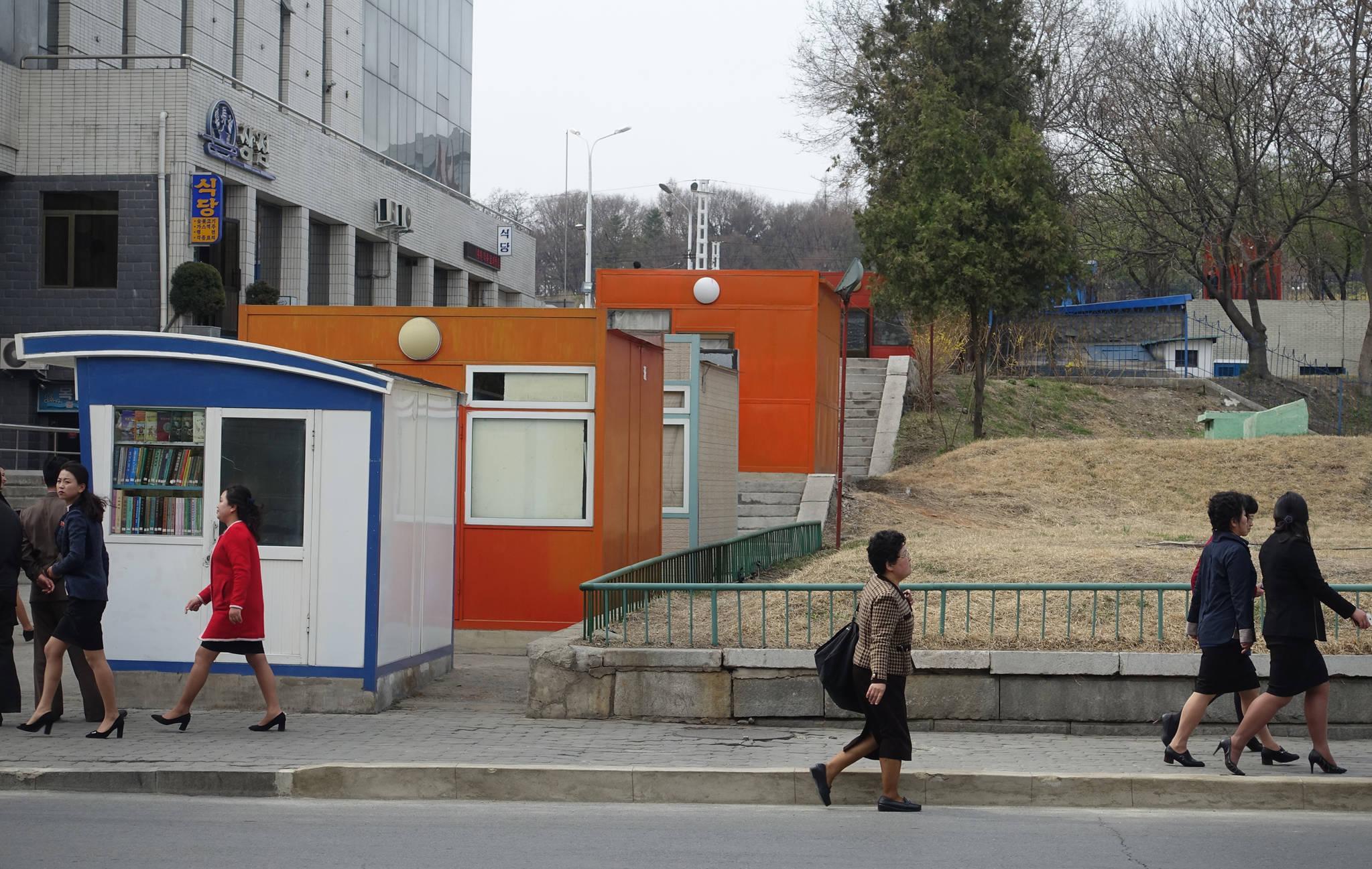 2일 오후 평양 옥류관 앞 거리모습. 평양공동취재단